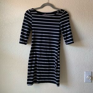 Heart and hips striped dress